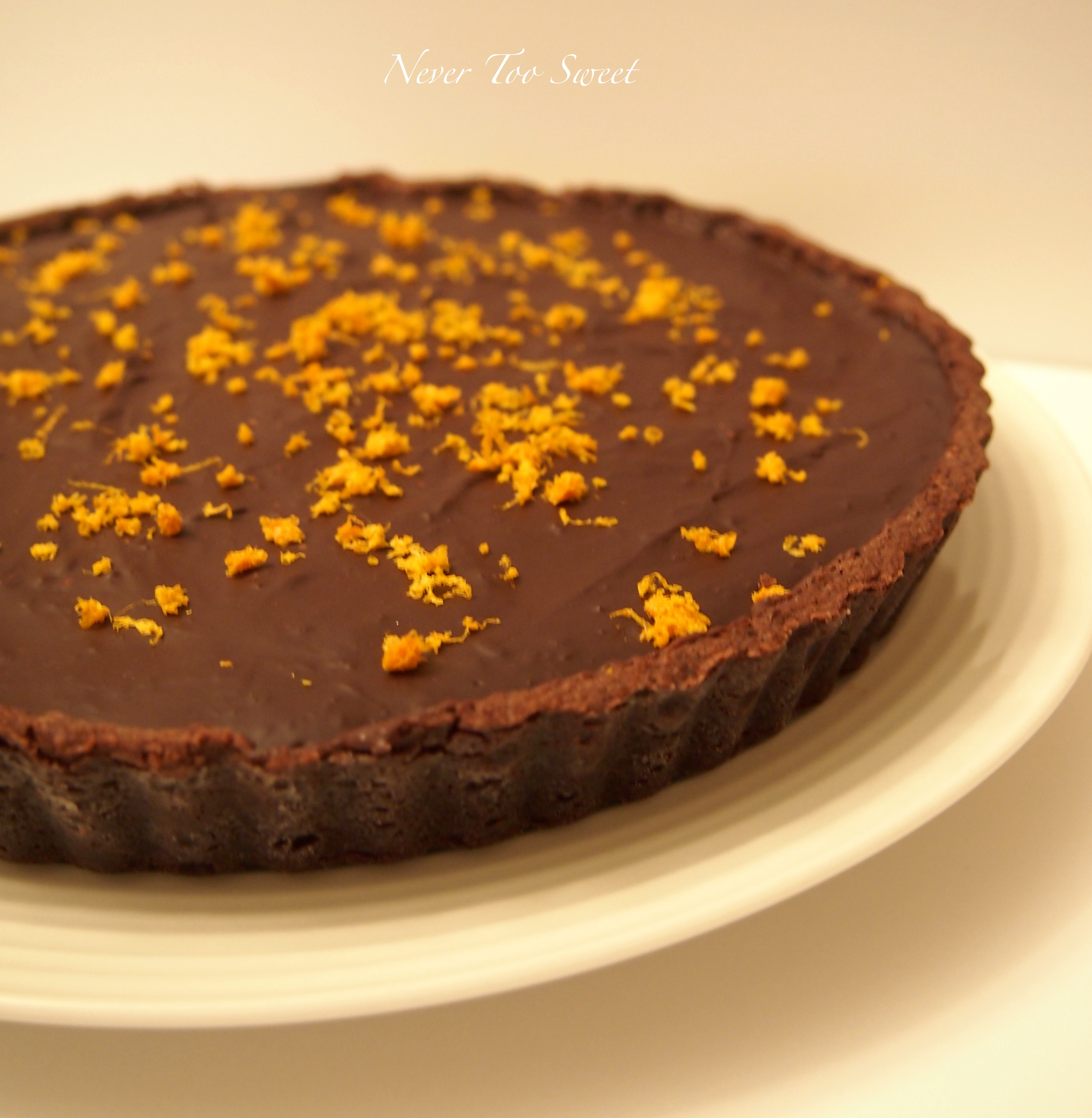 Thanks Kirk – Chocolate Orange Tart | Never Too Sweet