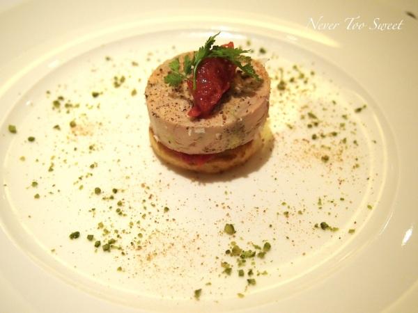 Foie Gras with rhubarb chutney
