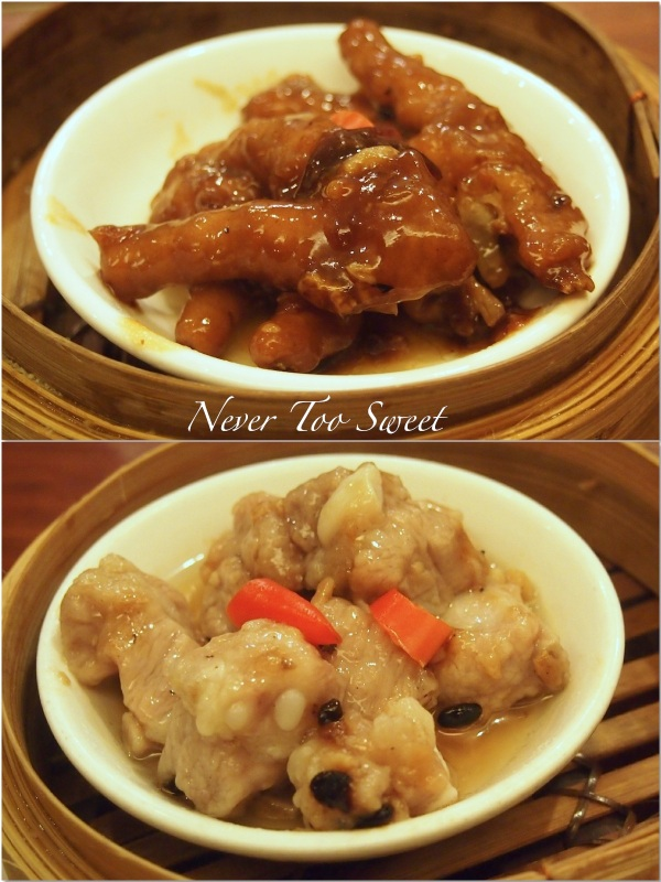 Steamed pork ribs $14HKD ($1.75AUD) and Chicken Feet with Black bean sauce $15HKD ($1.9AUD)
