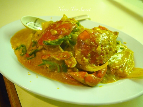 Fried Curry Crab Small $150HKD ($18.75AUD)