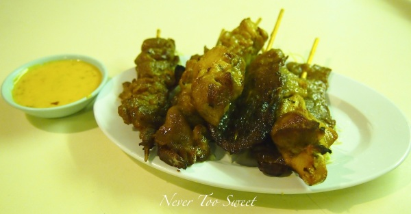 Mixed Satay - Chicken, Pork and Beef $58HK ($7.25AUD)