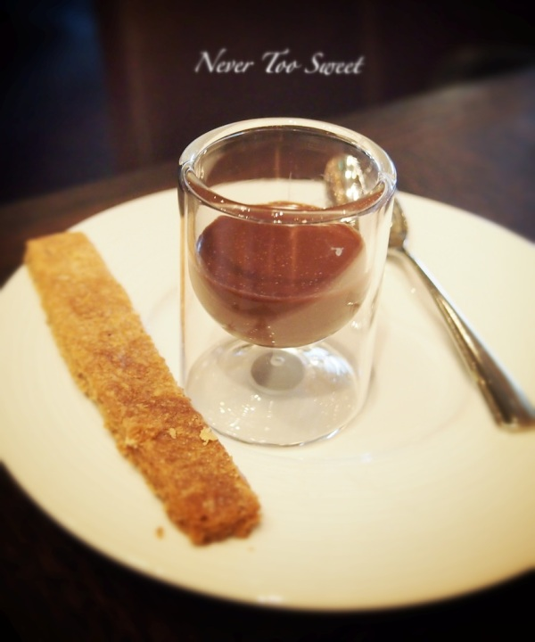 Complimentary Chocolate Mousse with Cardamon shortbread