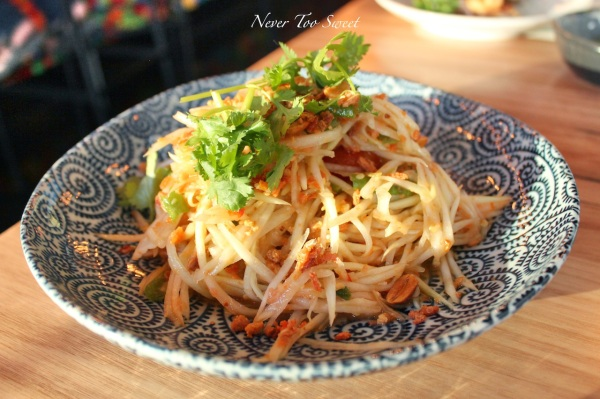 """Som Dtum Thai"" Isaan Green Papaya salad $13.90"