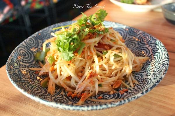 """""""Som Dtum Thai"""" Isaan Green Papaya salad $13.90"""