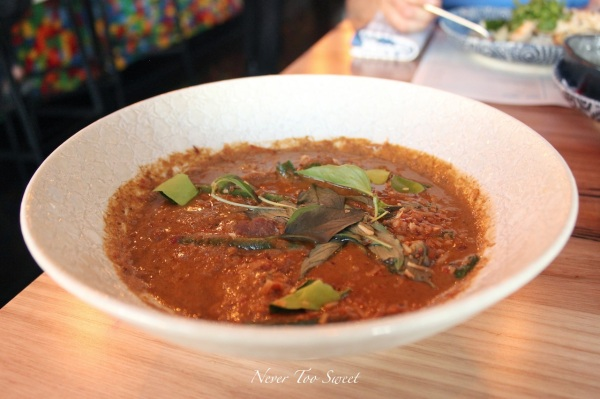 """Penang Nua"" 16 hour cooked beef shi penang curry with fresh shallot, lime leaf and coriander $23.90"