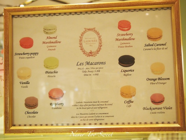 Laduree prices in Sydney