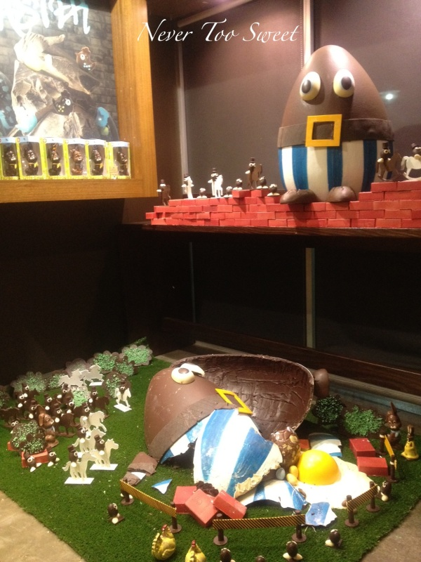 Humpty Dumpty displayed used over 40 kgs of chocolate!