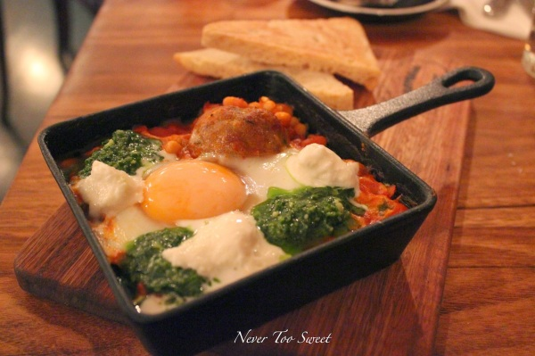 Baked egg and balls with beans $12.5