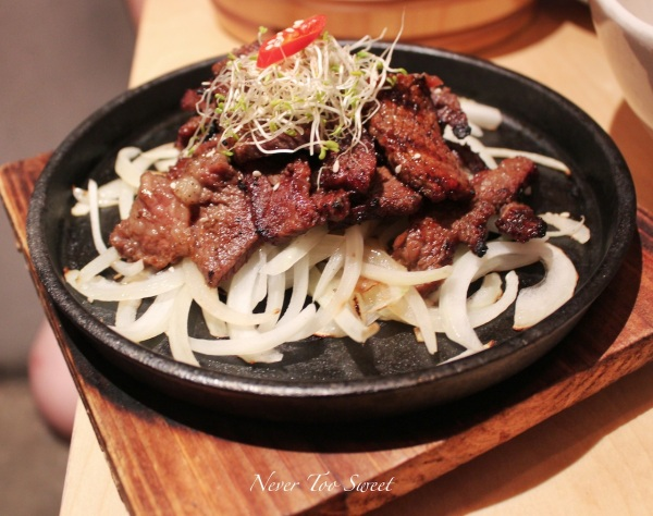 Marinated beef rib (120g) $15