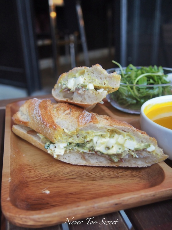 Tete de cochon baguette with pig head's terrine and mustard $98HKD($12.25AUD)