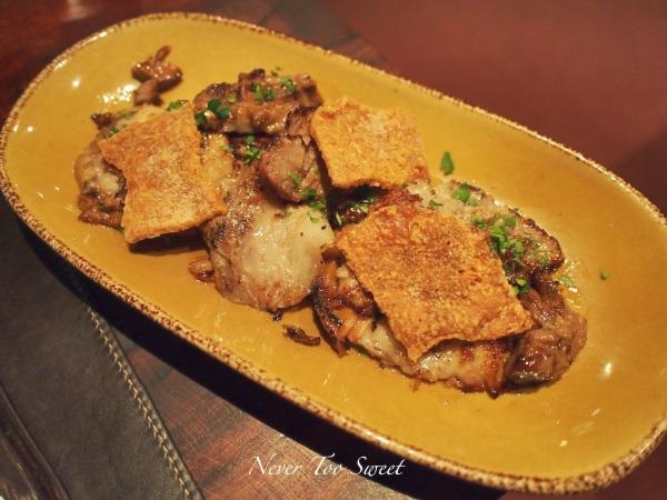 Mejilla de Cerdo - Braised pork jowl 'cheek' with crackling $19