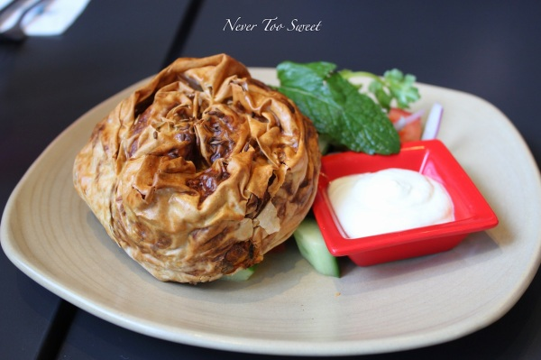 Sabzee vegetarian filo with salata $9.80