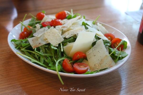 Rocket and Parmesan salad $7