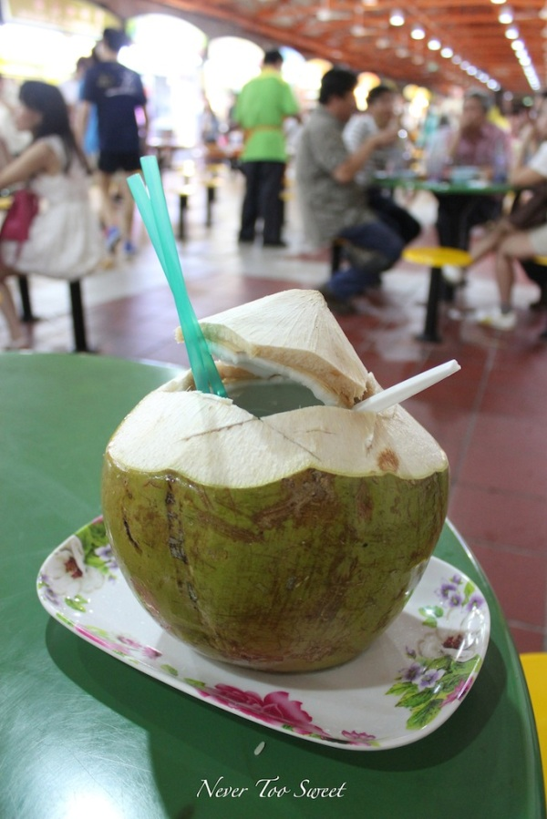 Young Green Coconut $2.8SGD ($2.3AUD)