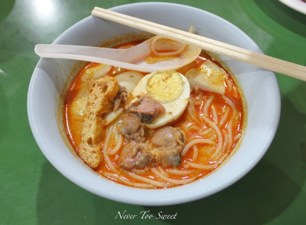 Curry Laksa $3SGD ($2.45AUD)