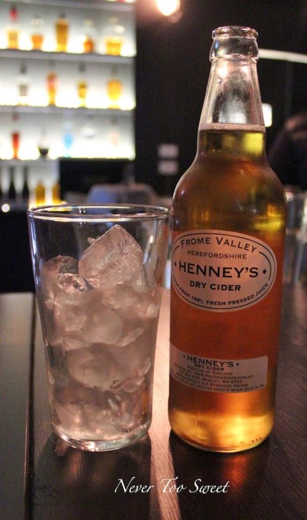 Henley's cider $11