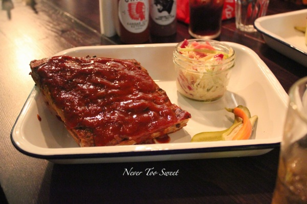 Spare ribs $21 with Chipostle slaw