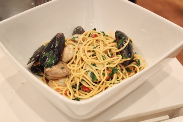 Seafood marina using freshly made pasta