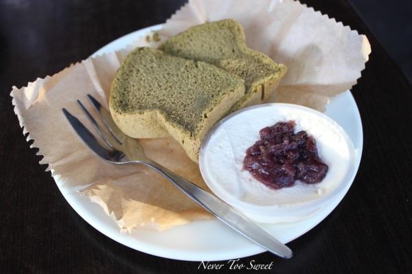 Green tea chiffon cake $4.5