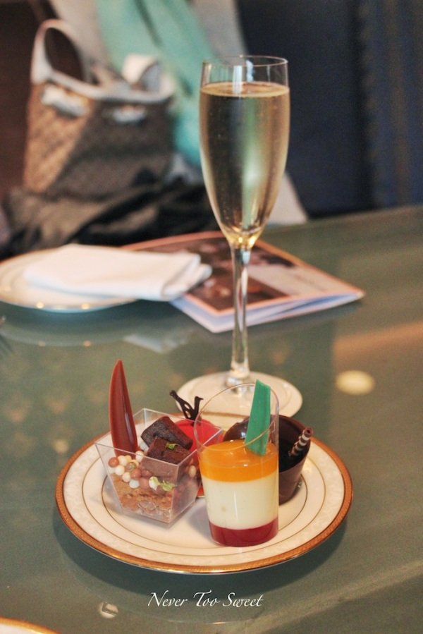 Moët & Chandon champagne and first round sweets
