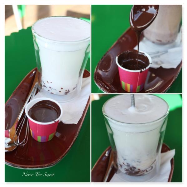 Dark hot chocolate $6.50