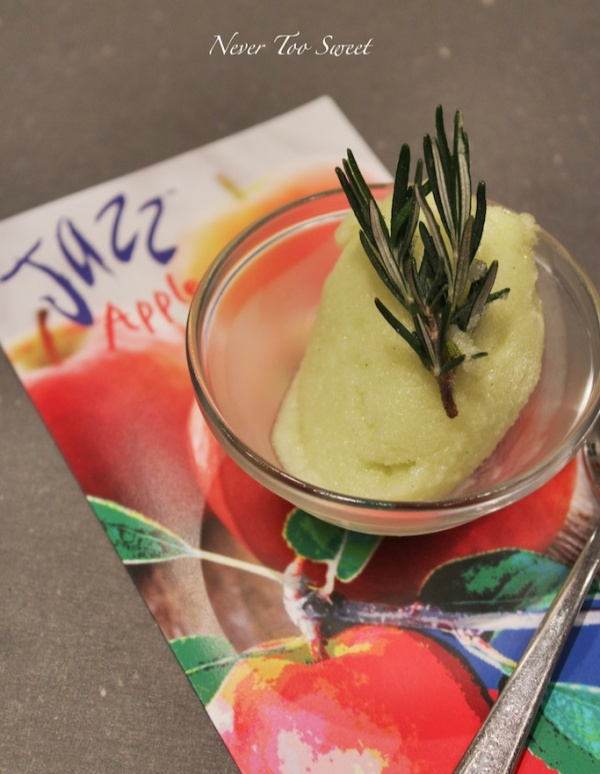 Apple and Rosemary Sorbet