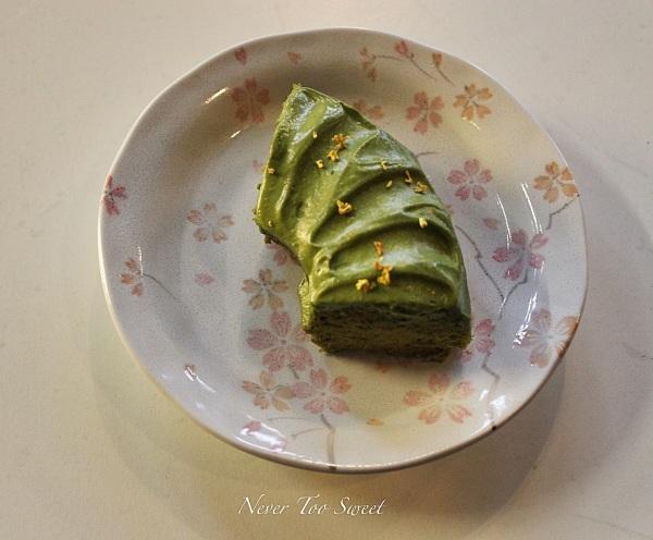 Matcha chiffon cake with match icing $38HKD ($5.2AUD)