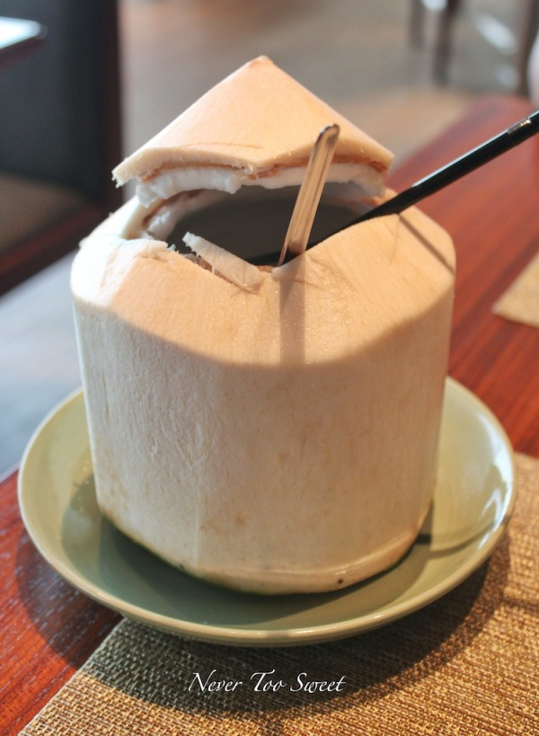 Fresh Young Coconut (included in afternoon tea)