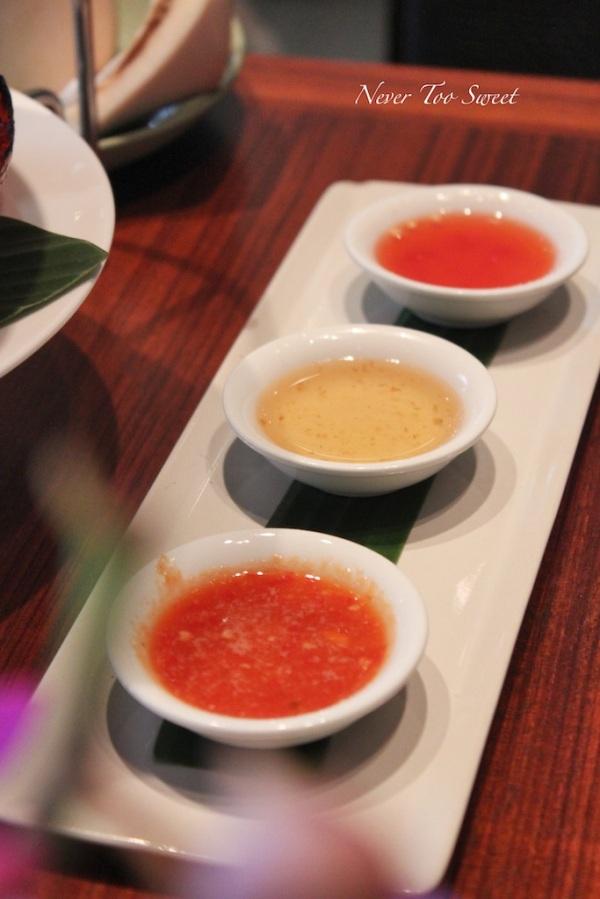 3 different sauces