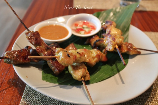 Mixed satays $140 plus 10% service charge