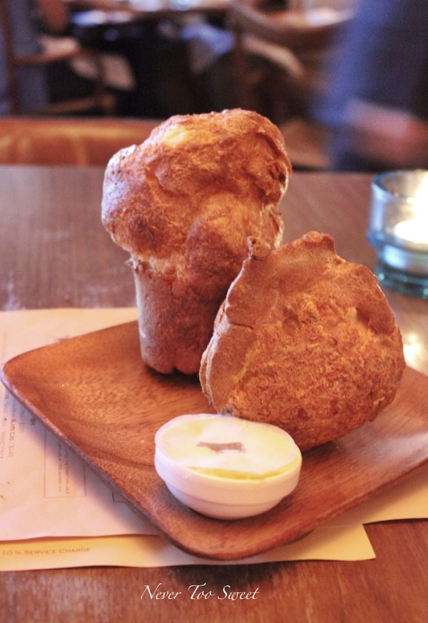 Popovers with butter