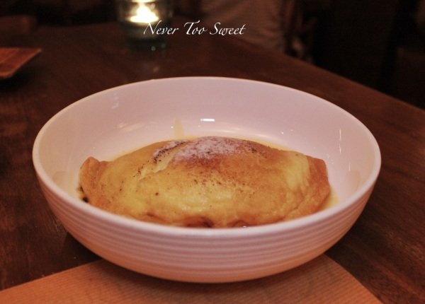Crepe Souffle with passion fruit sauce $98HKD ($13.5AUD) + 10% service charge