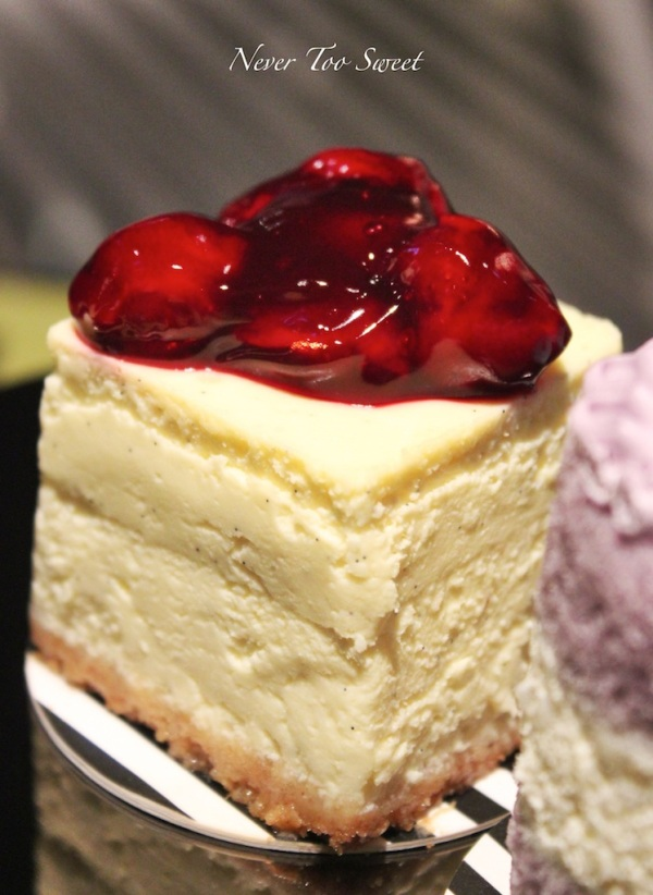 Cheesecake with Queen Anne Cherries $60HKD ($8.2AUD) +10% Service fee