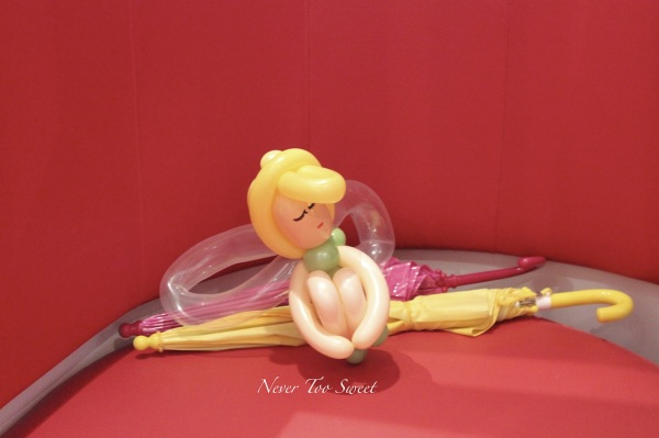Cute doll made out of balloons!