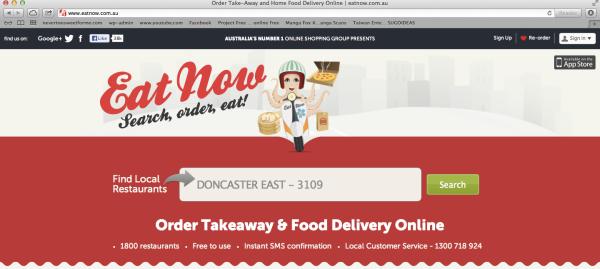 Eat Now Website