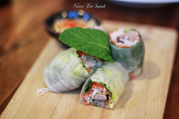Jinda's rice paper rolls $6.90