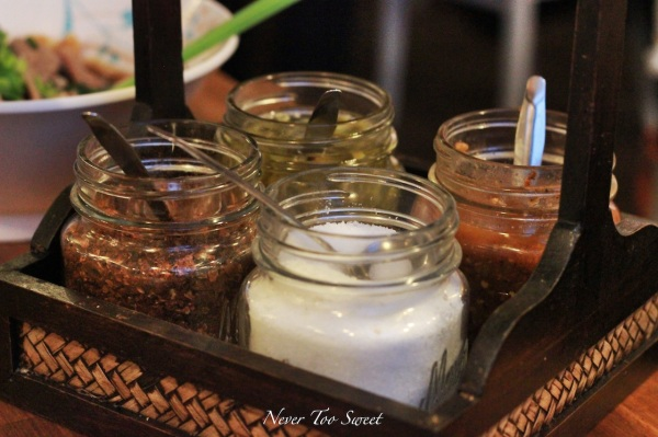 Condiments with Boat Noodles