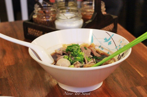 Boat noodles with glass noodles $9