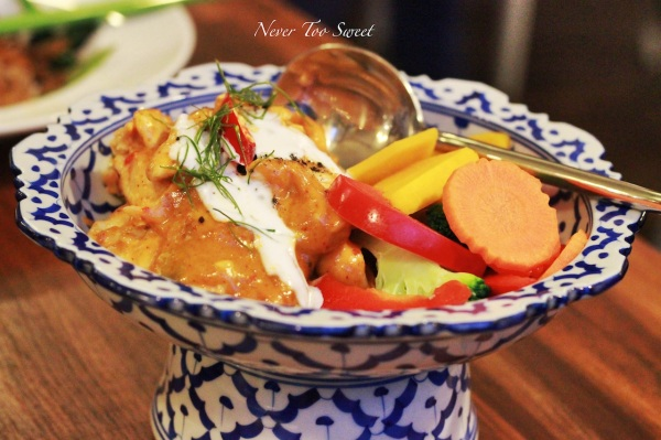 Penang curry with chicken and pumpkin $14.90