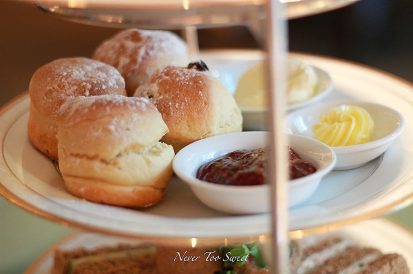 Scones - clotted cream, jam and butter