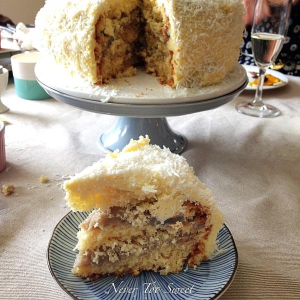 Coconut and Taro Cake