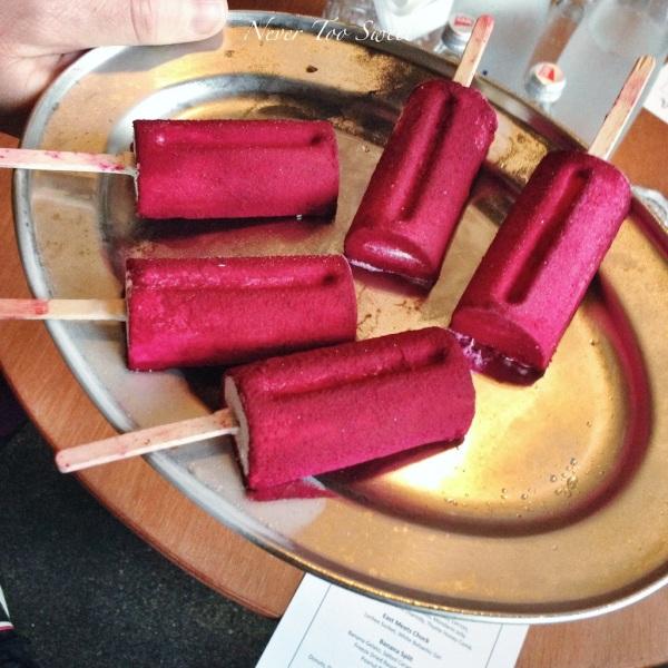 Foiedlepop - foie gras gelato, cherry sorbet