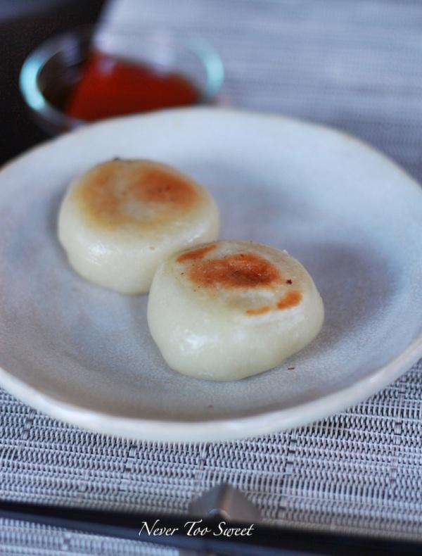Chilli miso soy bean oyaki