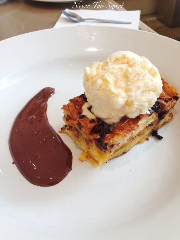 French croissant bread & butter pudding $13.50