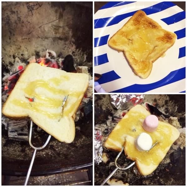 Honey marshmallow toast