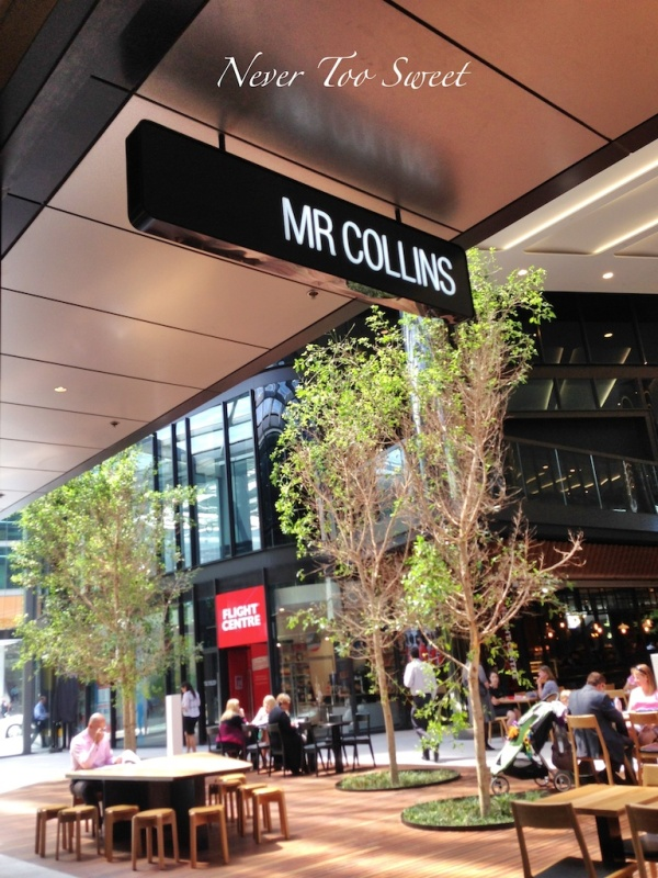 Mr Collins at Collins Square