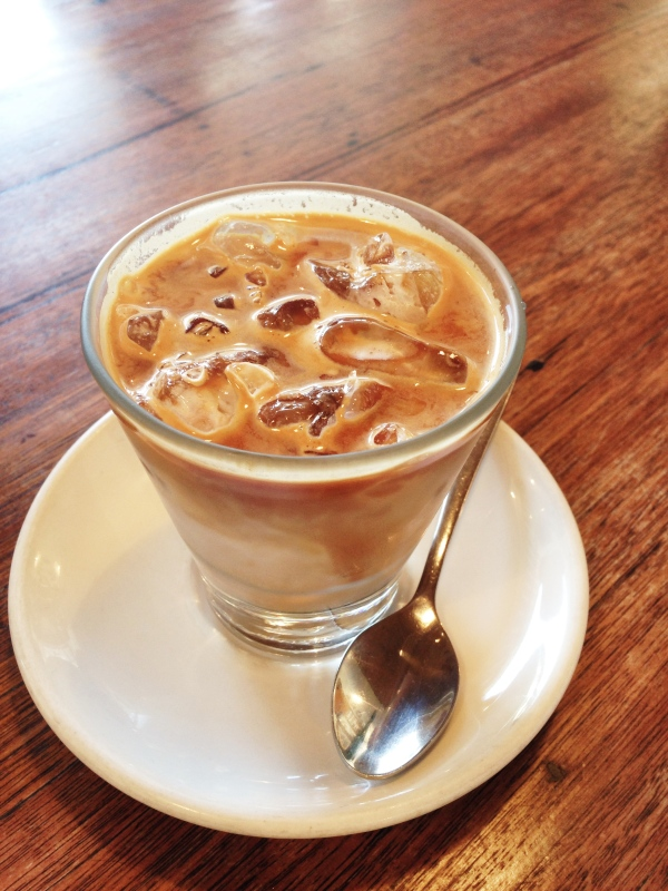 Iced latte $5