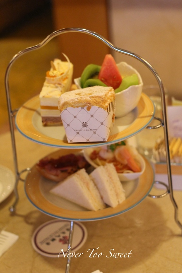 Afternoon Tea set $299TWD ($13AUD) + 10% Service Charge