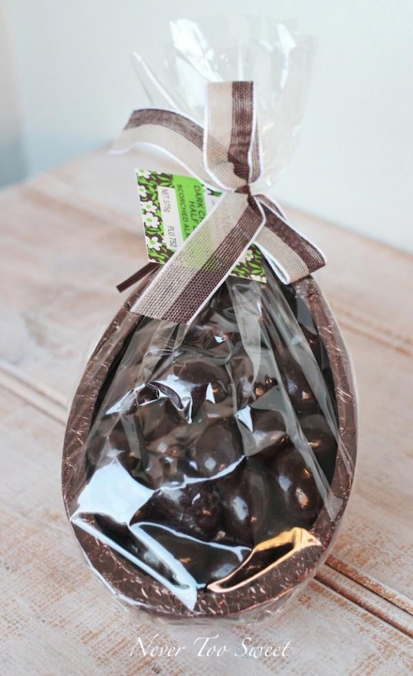 Half Dark Chocolate Egg - Dark Almonds $22.50