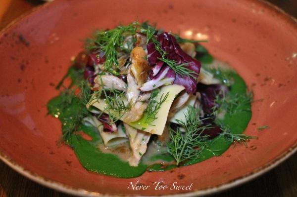 Braised rabbit, mushroom, fennel & silken pasta $22